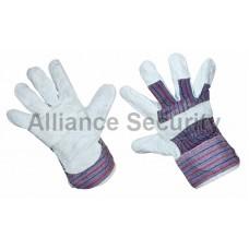 Перчатка спилковая (спилок + хб ткань), кожевенный спилок класса АВ. Материал подкладки: 100% хб.