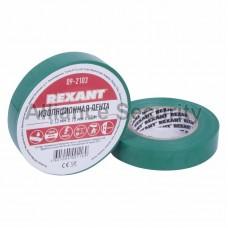 Изолента 15мм х 25м зеленая  REXANT