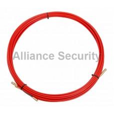 Протяжка кабельная (мини УЗК в бухте), стеклопруток, d=3,5мм, 15м КРАСНАЯ