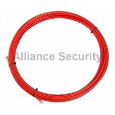 Протяжка кабельная (мини УЗК в бухте), стеклопруток, d=3,5мм, 20м КРАСНАЯ