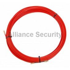 Протяжка кабельная (мини УЗК в бухте), стеклопруток, d=3,5мм, 30м КРАСНАЯ