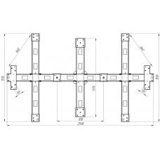 Рама монтажная для турникета роторного полноростового PERCo-RTD-20