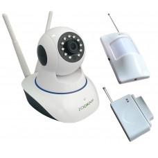 Zodiak 909 Home Safety (Поворотная IP камера + ИК датчик движения+ датчик открытия)